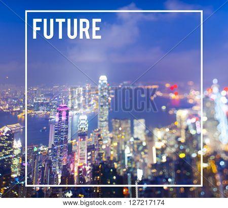 Future Development City Urban Futuristic Concept