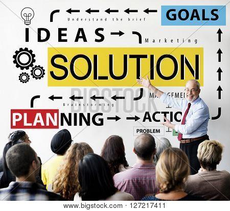 Solution Problem Solving Ideas Strategy Concept