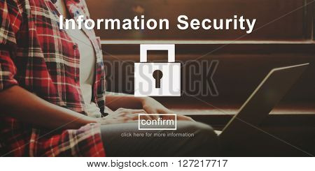 Information Security Protection Privacy Interface Concept
