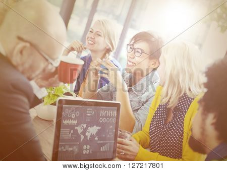 Group of Diverse Cheerful Business People