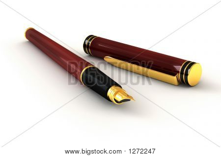 Red Fountain Pen