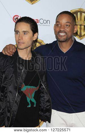 LAS VEGAS - APR 12:  Jared Leto, Will Smith at the Warner Bros. Pictures Presentation at CinemaCon at the Caesars Palace on April 12, 2016 in Las Vegas, CA