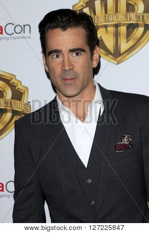 LAS VEGAS - APR 12:  Colin Farrell at the Warner Bros. Pictures Presentation at CinemaCon at the Caesars Palace on April 12, 2016 in Las Vegas, CA
