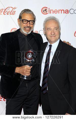 LAS VEGAS - APR 14:  Jeff Goldblum, Brent Spiner at the CinemaCon Awards Gala at the Caesars Palace on April 14, 2016 in Las Vegas, CA