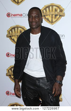 LAS VEGAS - APR 12:  Adewale Akinnuoye-Agbaje at the Warner Bros. Pictures Presentation at CinemaCon at the Caesars Palace on April 12, 2016 in Las Vegas, CA