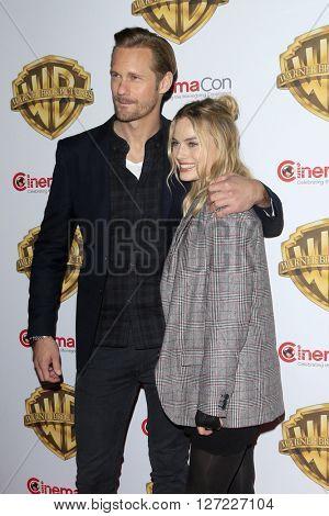 LAS VEGAS - APR 12:  Alexander Skarsgard, Margot Robbie at the Warner Bros. Pictures Presentation at CinemaCon at the Caesars Palace on April 12, 2016 in Las Vegas, CA