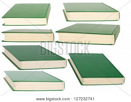 Books with blank covers. Isolated on white background