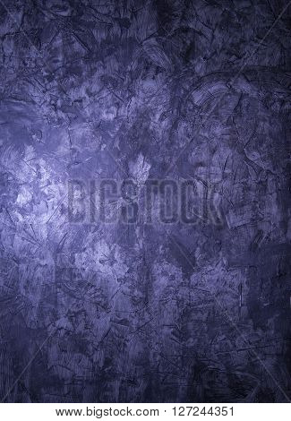 Abstract beauty grunge background. blue Venetian plaster poster