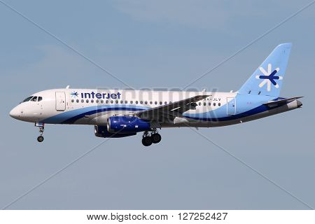 Interjet Sukhoi Superjet 100 Airplane Miami Airport