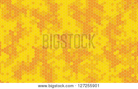 honeycomb background vector illustration yellow orange colors