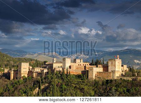 Fortress of Alhambra. Granada, Spain