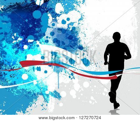 Sport background. Runner