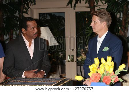 LOS ANGELES - APR 25:  Obba Babatunde, Bradley Bell at the Bold and Beautiful Emmy Nominees Celebration at the CBS Television City on April 25, 2016 in Los Angeles, CA