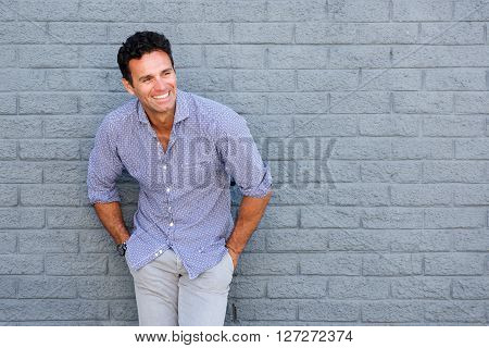 Handsome Older Man Laughing