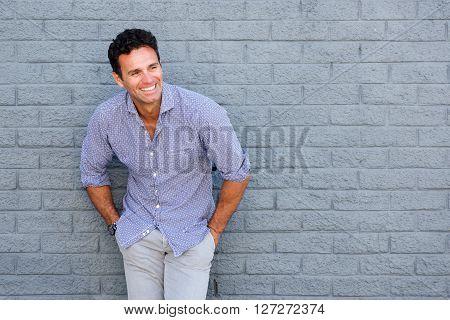 Handsome Older Man Laughing