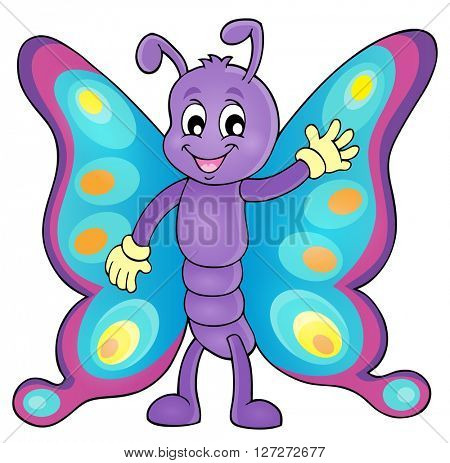 Cheerful butterfly theme image 1 - eps10 vector illustration.