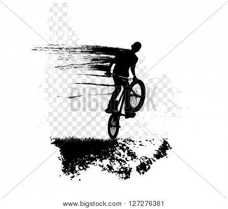 BMX biker, sport illustration