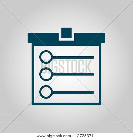 Task List Icon In Vector Format. Premium Quality Task List. Web Graphic Task List Sign On Grey Backg