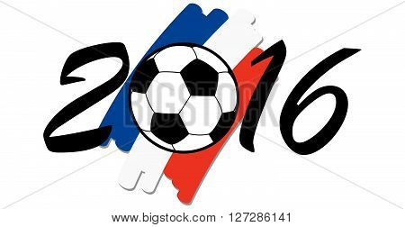Lettering 2016 With France National Colors