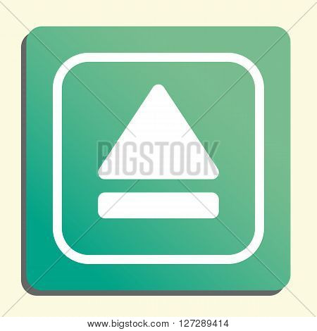 Music Eject Icon In Vector Format. Premium Quality Music Eject. Web Graphic Music Eject Sign On Gree
