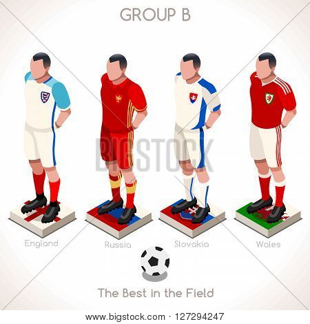France EURO 2016 Championship Infographic Qualified Soccer Players GROUP A. Football Game jersey flags of final participating countries. Flat People Icon. JPG. JPEG. Picture. Image. Graphic. Art. Illustration. Drawing. Object. Vector. EPS. AI.