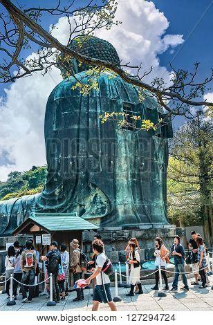 Tourists Near Famous Great Buddha  Statue