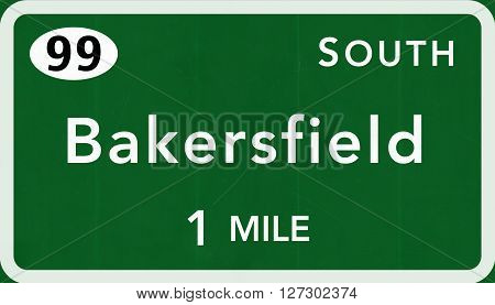Bakersfield Usa Interstate Highway Sign