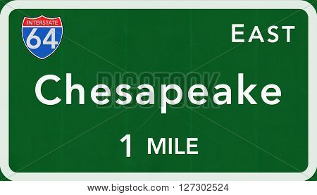 Chesapeake Usa Interstate Highway Sign