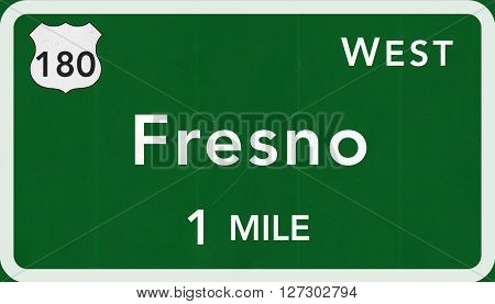 Fresno Usa Interstate Highway Sign