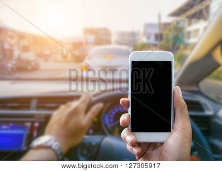 Using A Smartphone While Driving A Car
