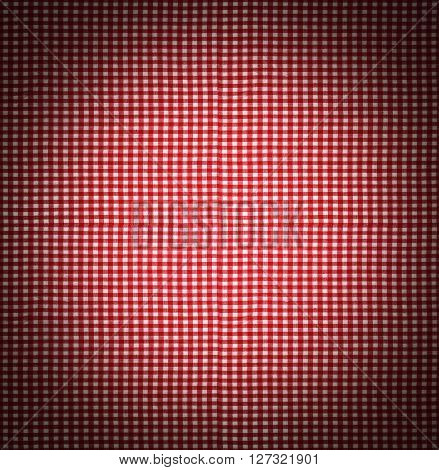 Seamless Tileable Texture - Red Checkered Tablecloth Fabric