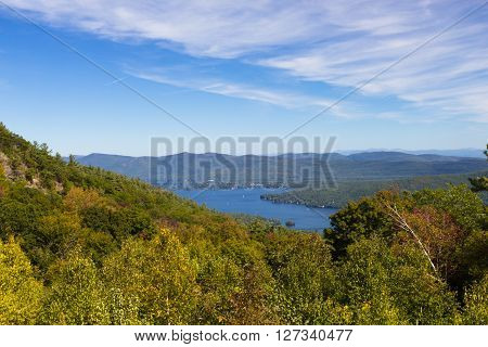 view of Lake George, New York, USA