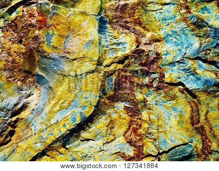 Surface of stone - iron containing ore