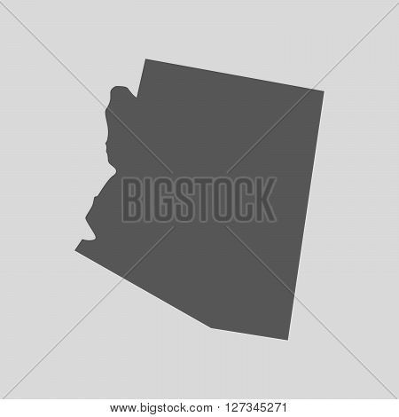 Black map of the State of Arizona - vector illustration. Simple flat map State of Arizona.