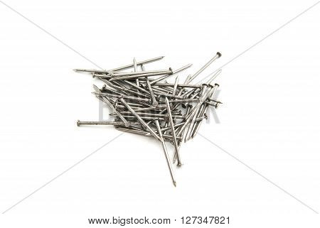 Heap Of Silver Nails