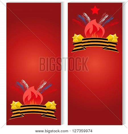 Russian Victory Day on 9 may Templates for flyers on may 9 the banner of the victory day over fascism