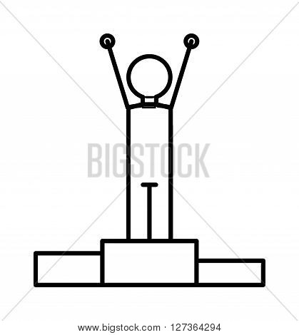 Conference speaker leader line icon outline offset flat vector. Modern style minimalist leader line icon vector and leader line icon conference speaking tips. Outline person leader line icon.