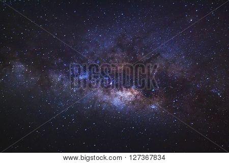 Milky Way Galaxy.long Exposure Photograph.with Grain