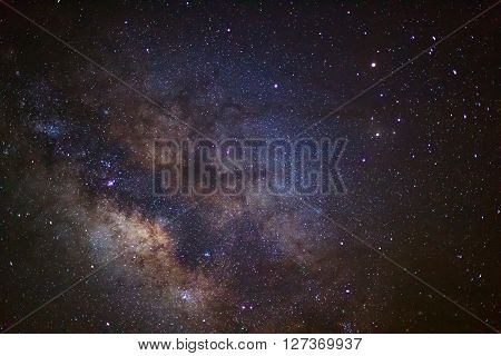 The Center Of The Milky Way Galaxy, Long Exposure Photograph,with Grain