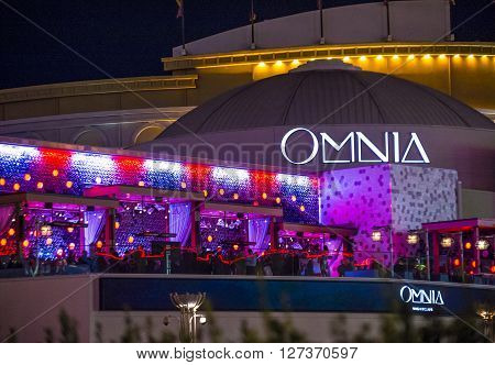 LAS VEGAS - APRIL 13 : The Omnia Night club in Ceasars palace hotel in Las Vegas on April 13 2016. The multi-leve 75000-square-foot venue opend in 2015