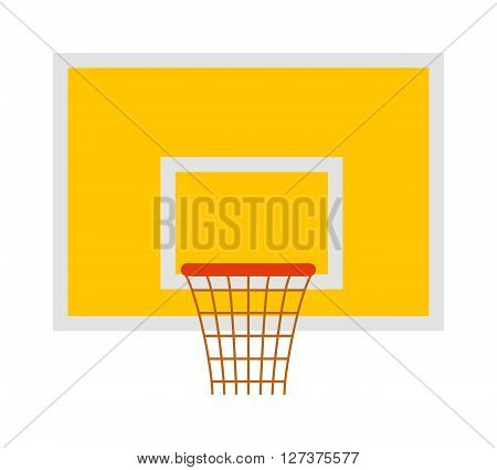 Basketball hoop sport basket game play competition equipment vector illustration. Game play basketball hoop and basketball hoop sport team score vector. Basketball hoop sport tournament.