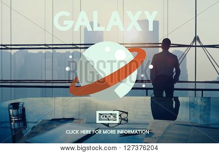 Galaxy Astrology Planet Gravity Concept poster