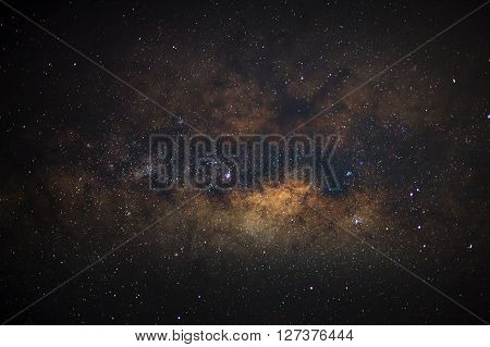 Close-up Of Milky Way,long Exposure Photograph, With Grain..