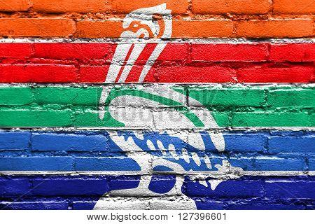 Flag Of St. Petersburg, Florida, Painted On Brick Wall