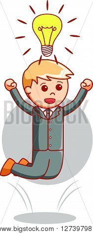 Business man idea .eps10 editable vector illustration design