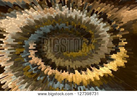 Wonderful Solid Bar Shape And Twist Brown And Gold Modern Abstract Background