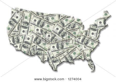 Geld-USA-Karte