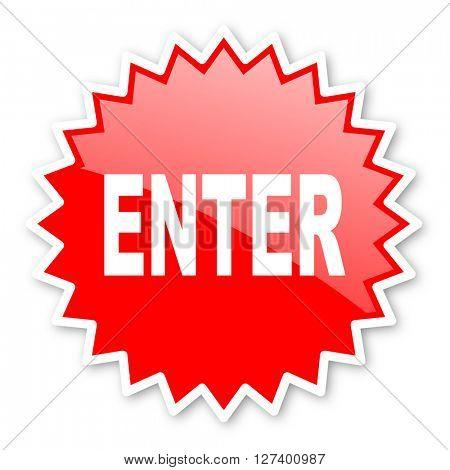 enter red tag, sticker, label, star, stamp, banner, advertising, badge, emblem, web icon
