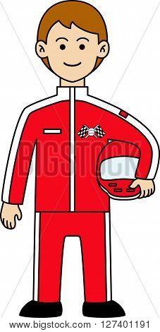 Driver f1 doodle .eps10 editable vector illustration design