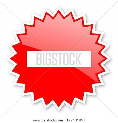 minus red tag, sticker, label, star, stamp, banner, advertising, badge, emblem, web icon